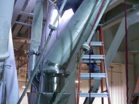 Large Diameter Stainless Pipe Installation