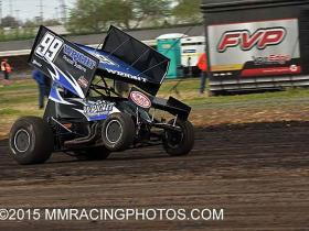 Shawn getting traction qualifying in Stockton