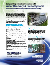 Water Recovery & Reuse Systems